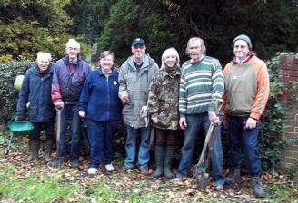 November 2017 bulb planting team