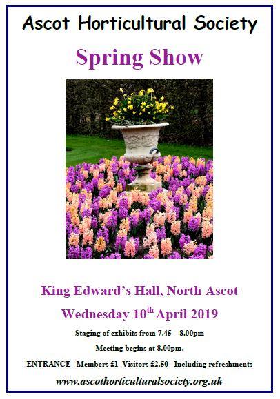 April 2019 show poster
