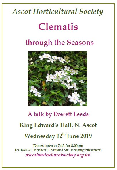 Clematis talk June 2019