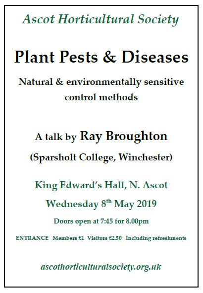 Pest and diseases talk may 2019