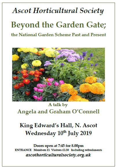 Beyond the garden poster