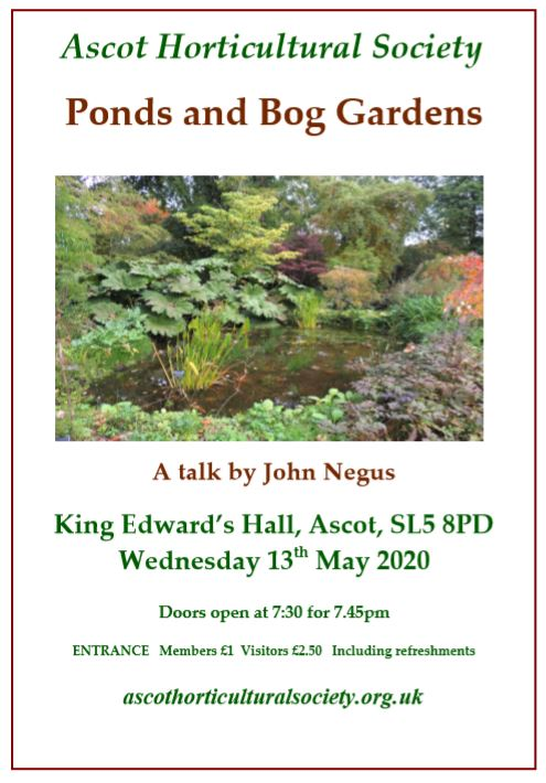 May bogs and garden poster