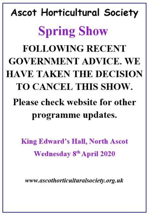 Cancellation of Spring show